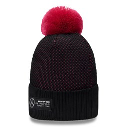 Mercededs – E-Sports – Bommel-Beanie in Schwarz