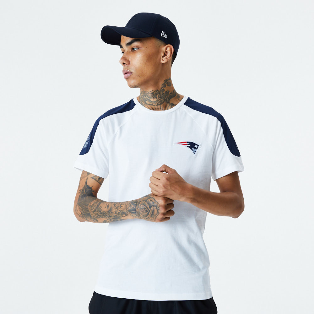 New England Patriots Single Jersey White T-Shirt