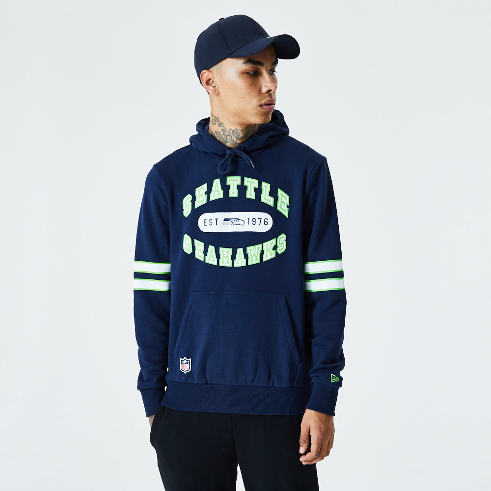 Felpa con cappuccio Seattle Seahawks Graphic Wordmark blu