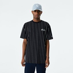 New Era Pinstripe Oversized Black T-Shirt