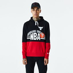 Chicago Bulls Throwback Colour Block Black Hoodie
