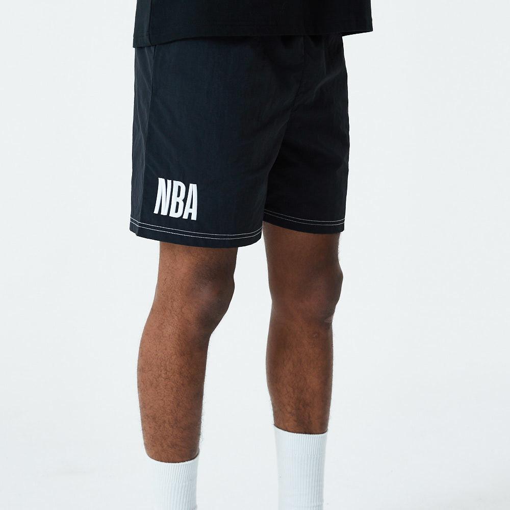 Short avec logo NBA, noir