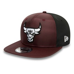 Cappellino Chicago Bulls Ripstop Front 9FIFTY bordeaux