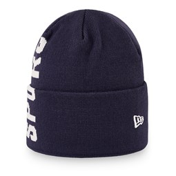 Tottenham Hotspur Vertical Wordmark Navy Cuff Knit