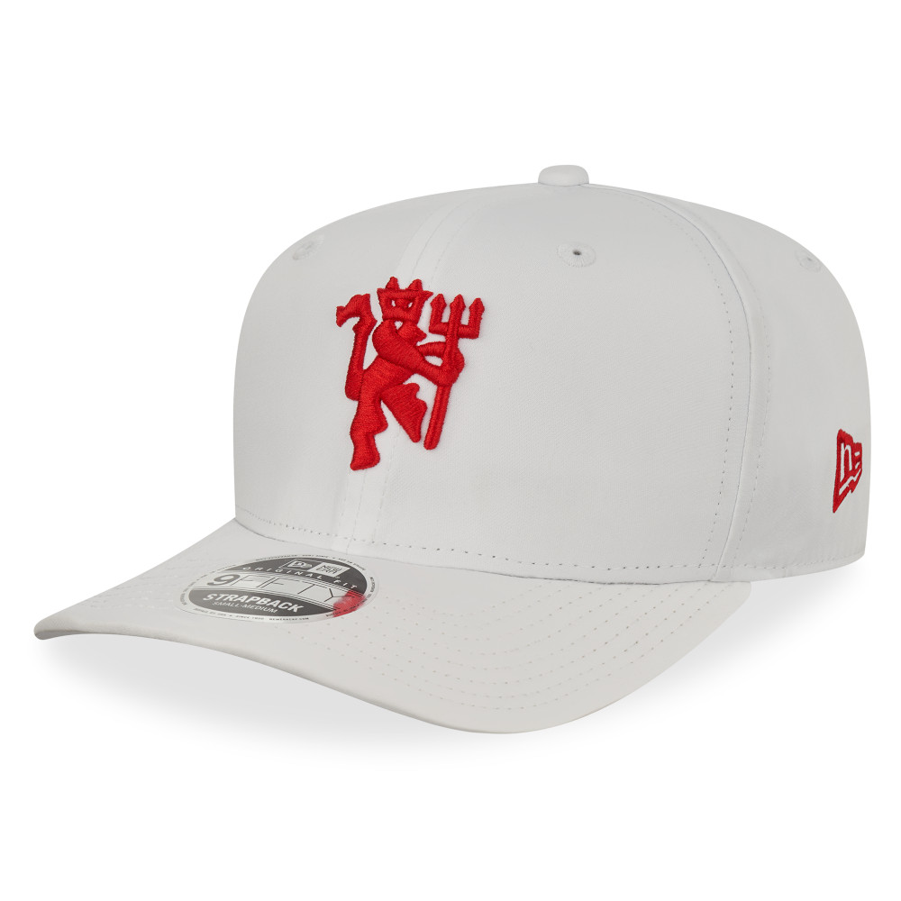 Gorra Manchester United Wordmark 9FIFTY Strapback, blanco