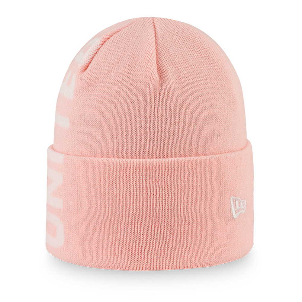 Manchester United Wordmark Pink Beanie Hat
