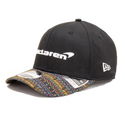 9FIFTY – McLaren – Mexico – Stretch-Kappe in Schwarz mit Clipverschluss