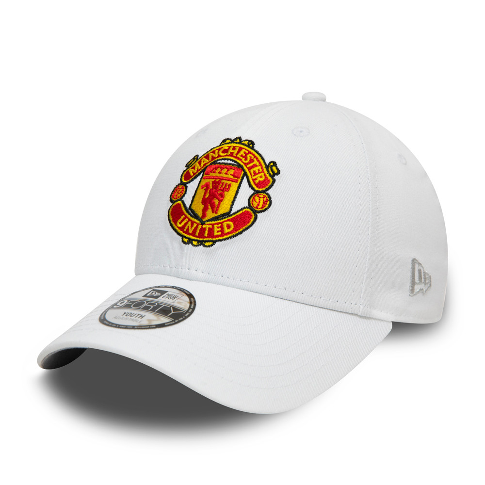 Gorra Manchester United Essential 9FORTY, niño, blanco