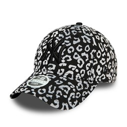 Cappellino New York Yankees Flocked Animal Print 9FORTY donna bianco