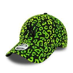 New York Yankees Flocked Animal Print Womens Green 9FORTY Cap