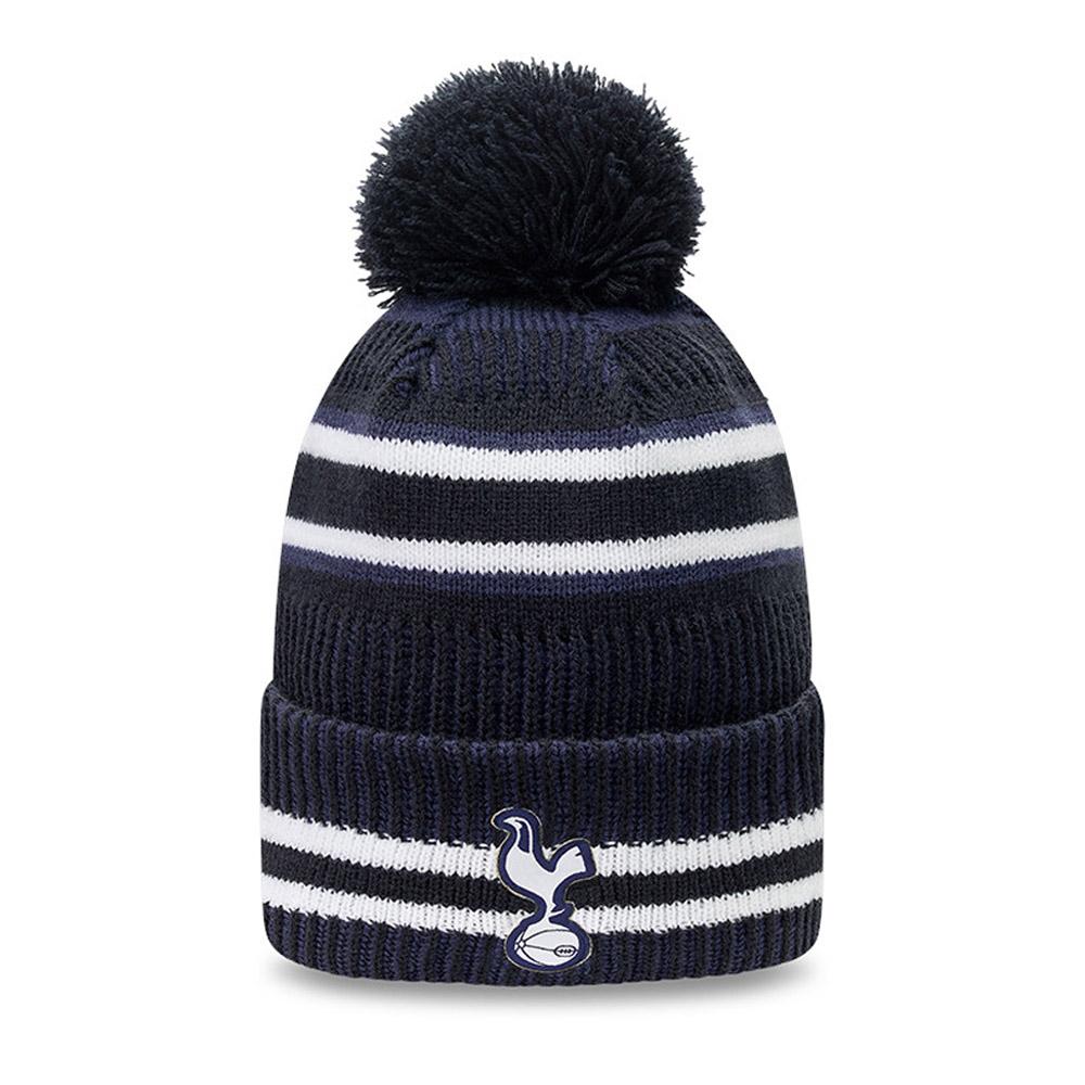 Gorro de punto con pompón Tottenham Hotspur Jake Stripe azul marino