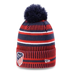 Atletico Madrid Striped Red Bobble Knit
