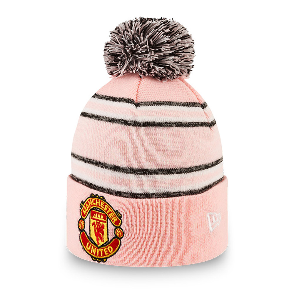 Manchester United Striped Pink Bobble Knit