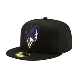 Baltimore Ravens Elements 2.0 Black 59FIFTY Cap