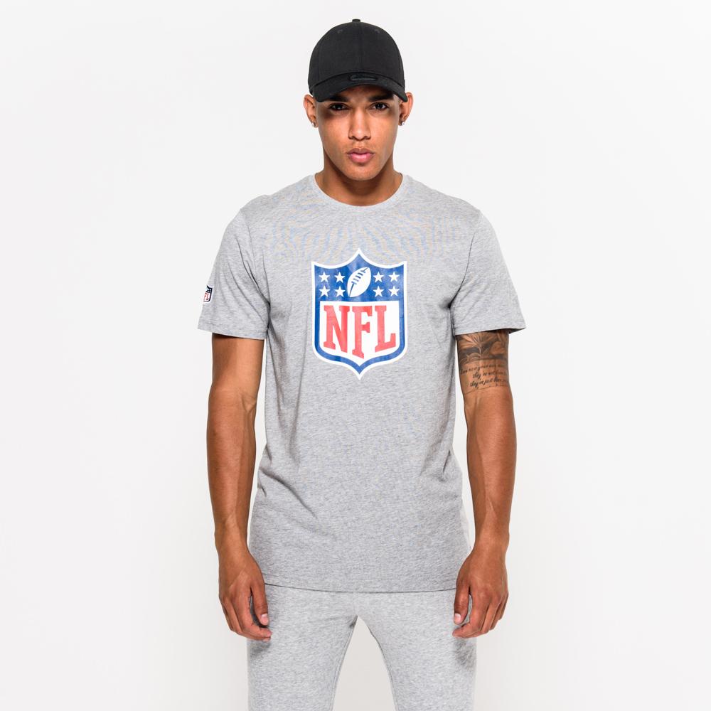 T-shirt con logo NFL grigia