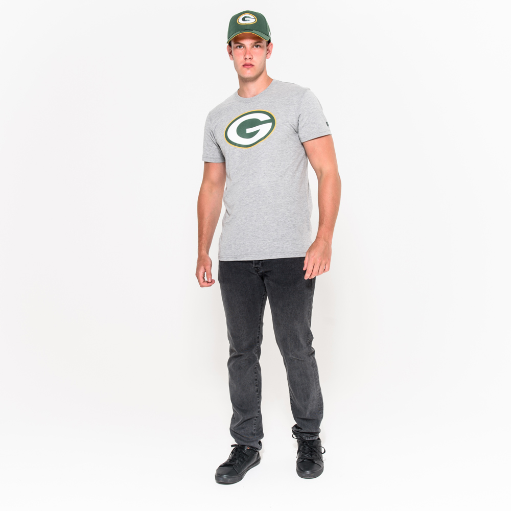 green bay packers team graues t shirt mit logo new era. Black Bedroom Furniture Sets. Home Design Ideas