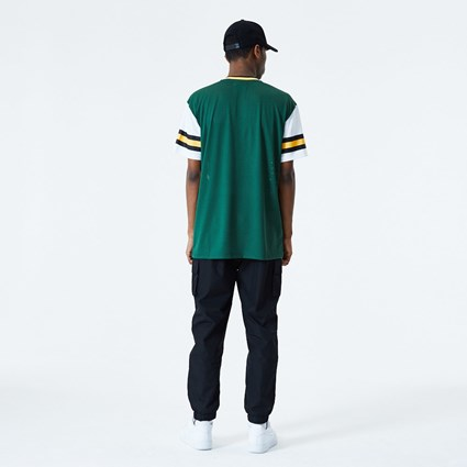 Green Bay Packers Stripe Sleeve Green Oversized T-Shirt
