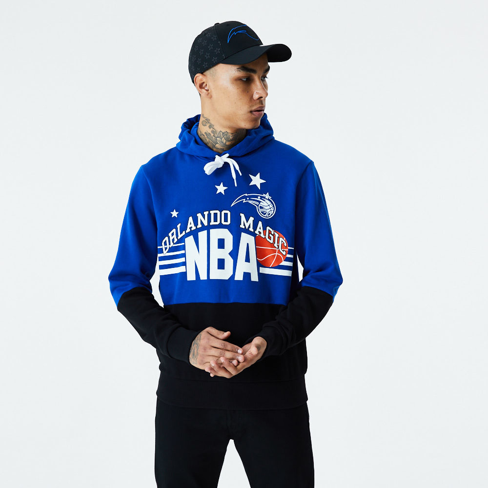Orlando Magic Throwback Colour Block Blue Hoodie