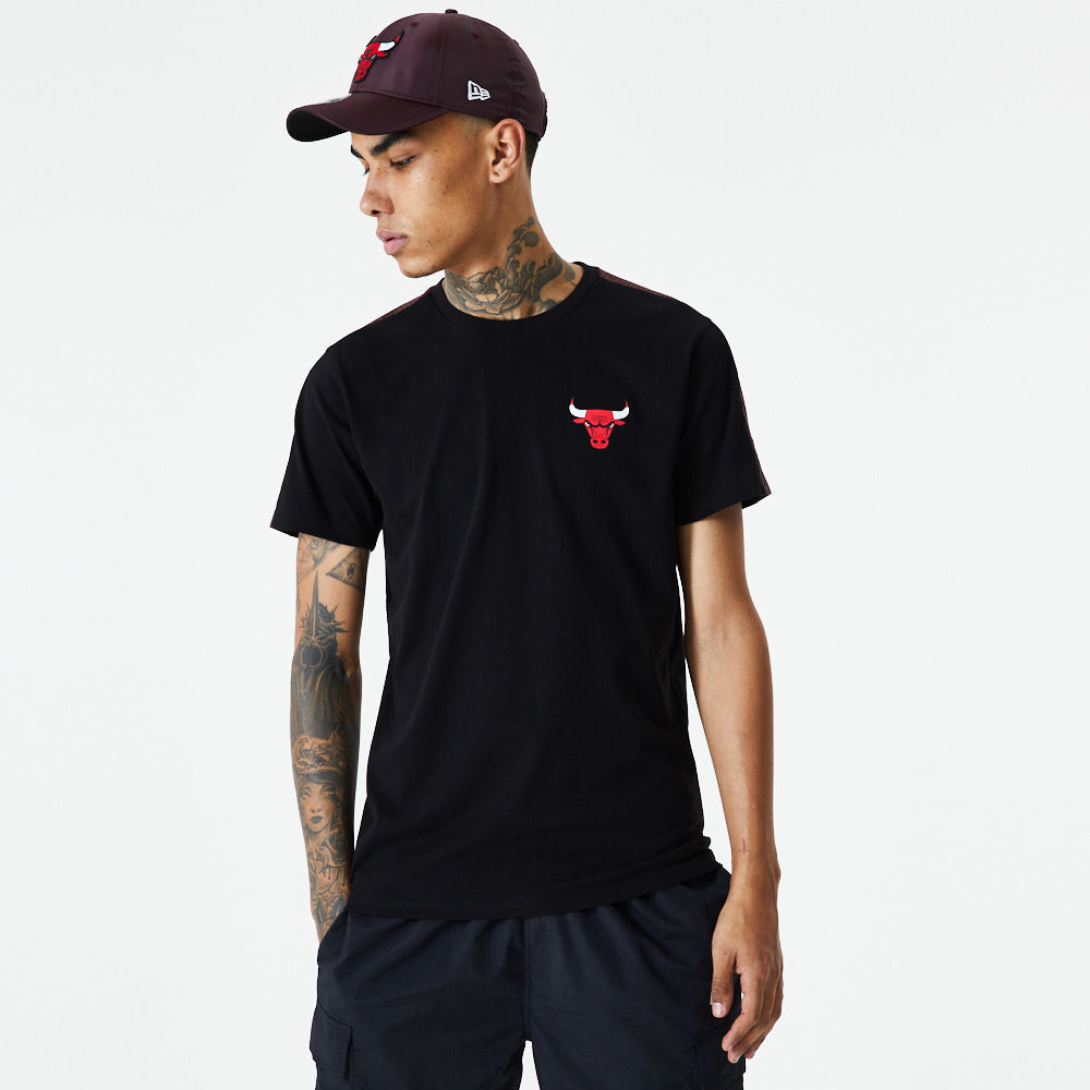 Chicago Bulls Ripstop Overlay Black T-Shirt
