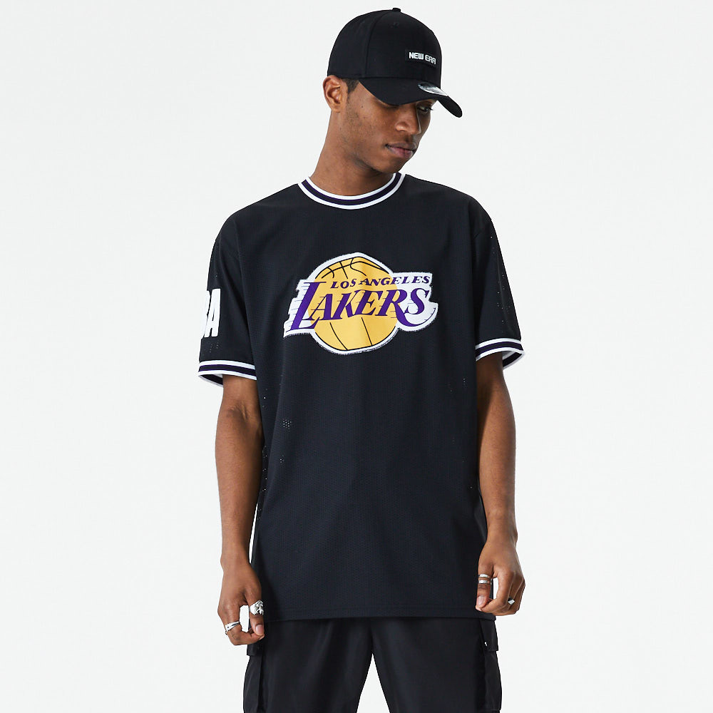 Los Angeles Lakers – Oversized-T-Shirt in Schwarz mit Applikation
