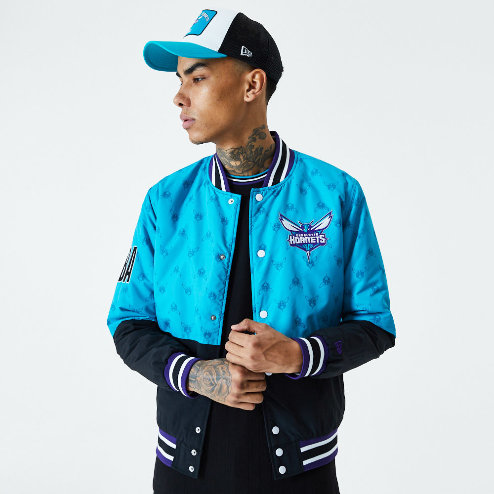 Charlotte Hornets – Jacke im Farbblockdesign in Blau