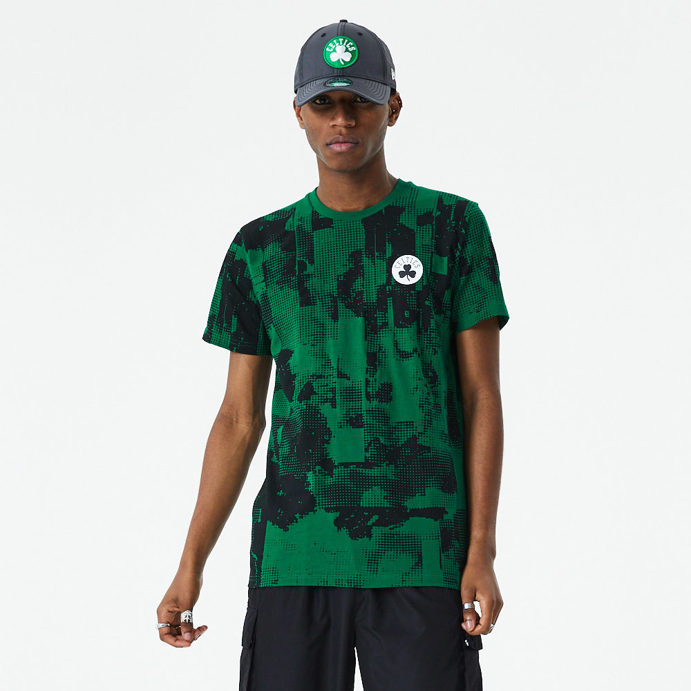 Boston Celtics Error Print Green T-Shirt
