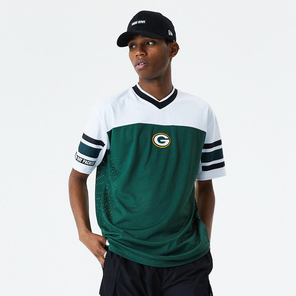 T-shirt oversized en maille jacquard Green Bay Packers, vert