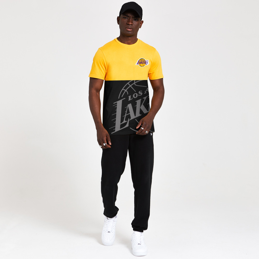 Camiseta Los Angeles Lakers Color Block, negro