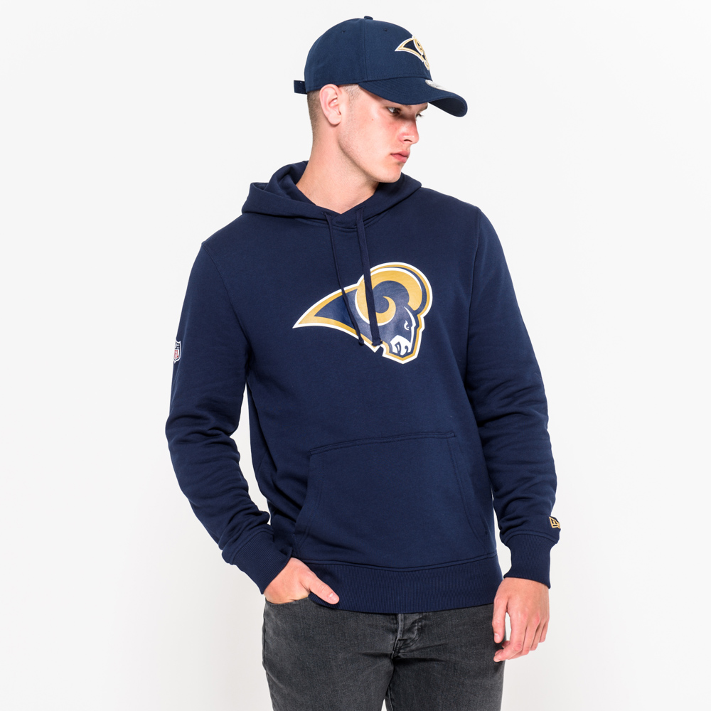 Los Angeles Rams Team Logo Navy Pullover Hoodie