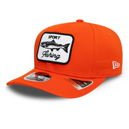 New Era Outdoors Orange Stretch Snap 9FIFTY Cap