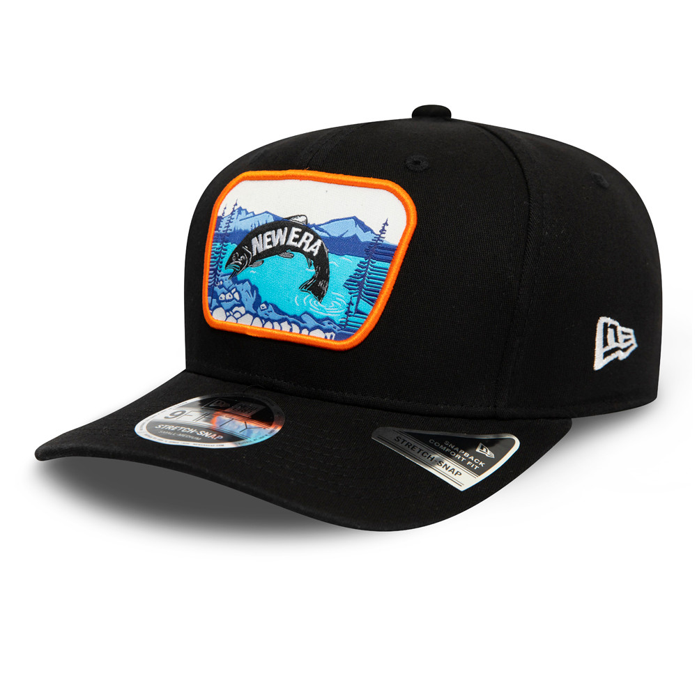 New Era Outdoors Black Stretch Snap 9FIFTY Cap