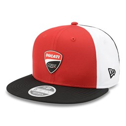 Casquette 9FIFTY Ducati Motor Stretch Snap à logo rouge