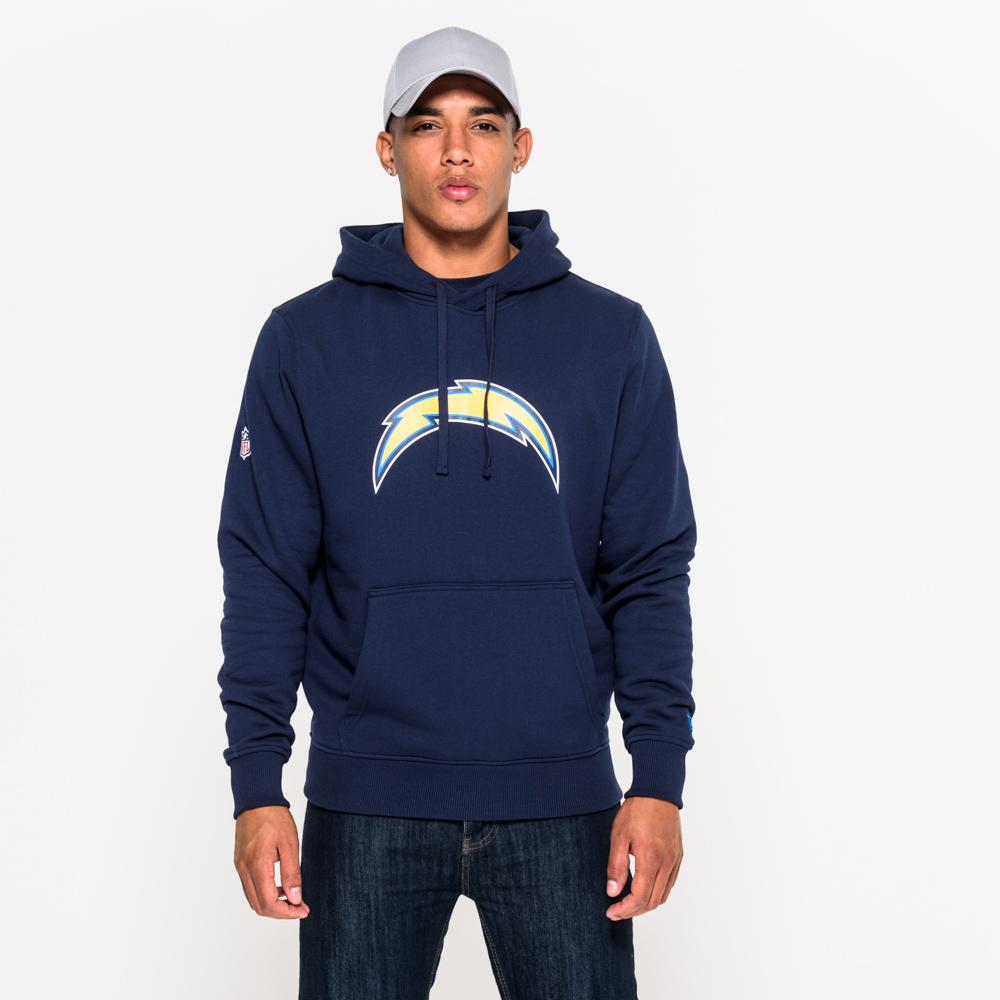 Felpa chiusa con cappuccio Los Angeles Chargers Team Logo blu navy