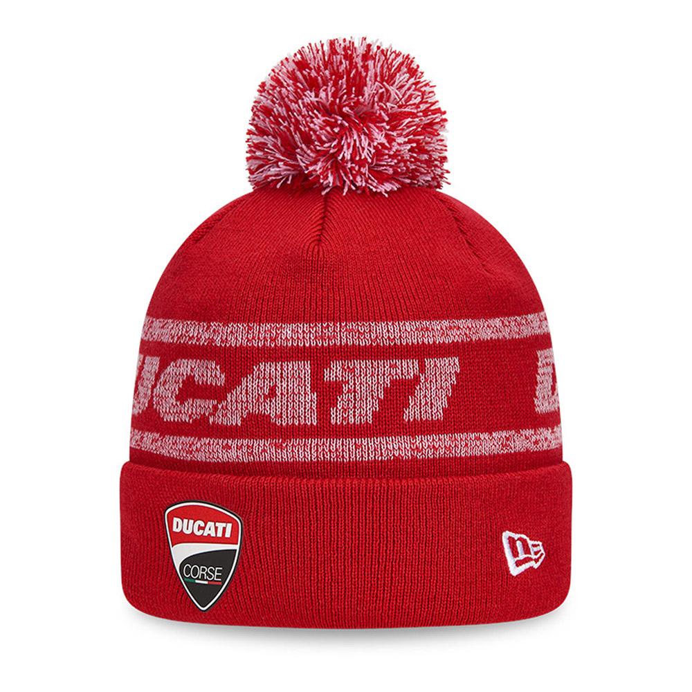 Ducati Motor Logo Red Bobble Knit
