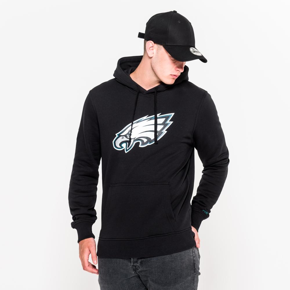 Sweat à capuche Philadelphia Eagles noir avec logo de l'équipe