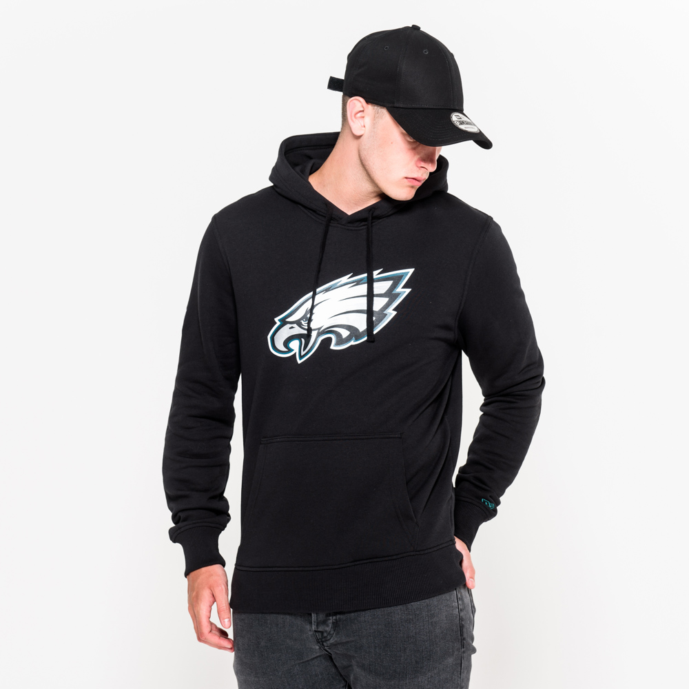 Philadelphia Eagles Team Logo Black Pullover Hoodie