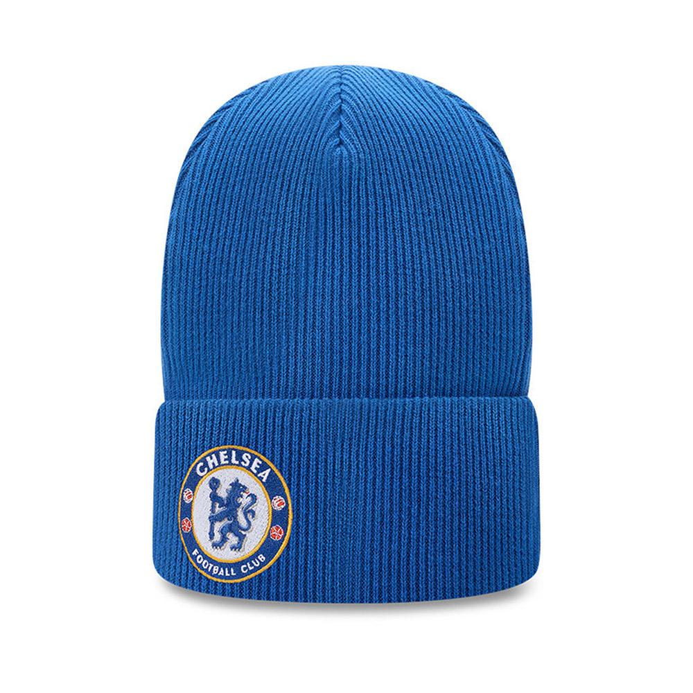 Berretto di maglia con risvolto Chelsea FC Wordmark blu
