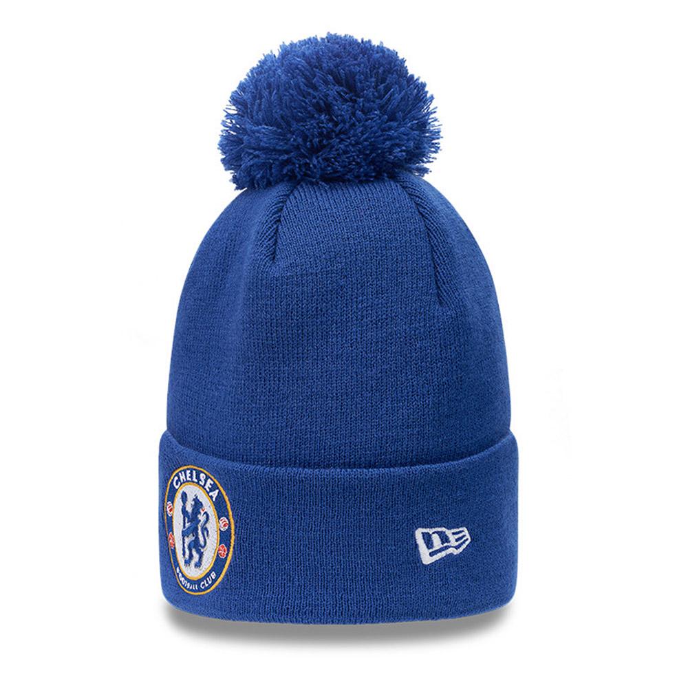 Berretto di maglia con pompon Chelsea FC blu