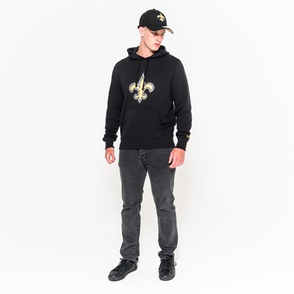 purchase cheap 445a3 16323 New Orleans Saints Team Logo Black Pullover Hoodie | New Era