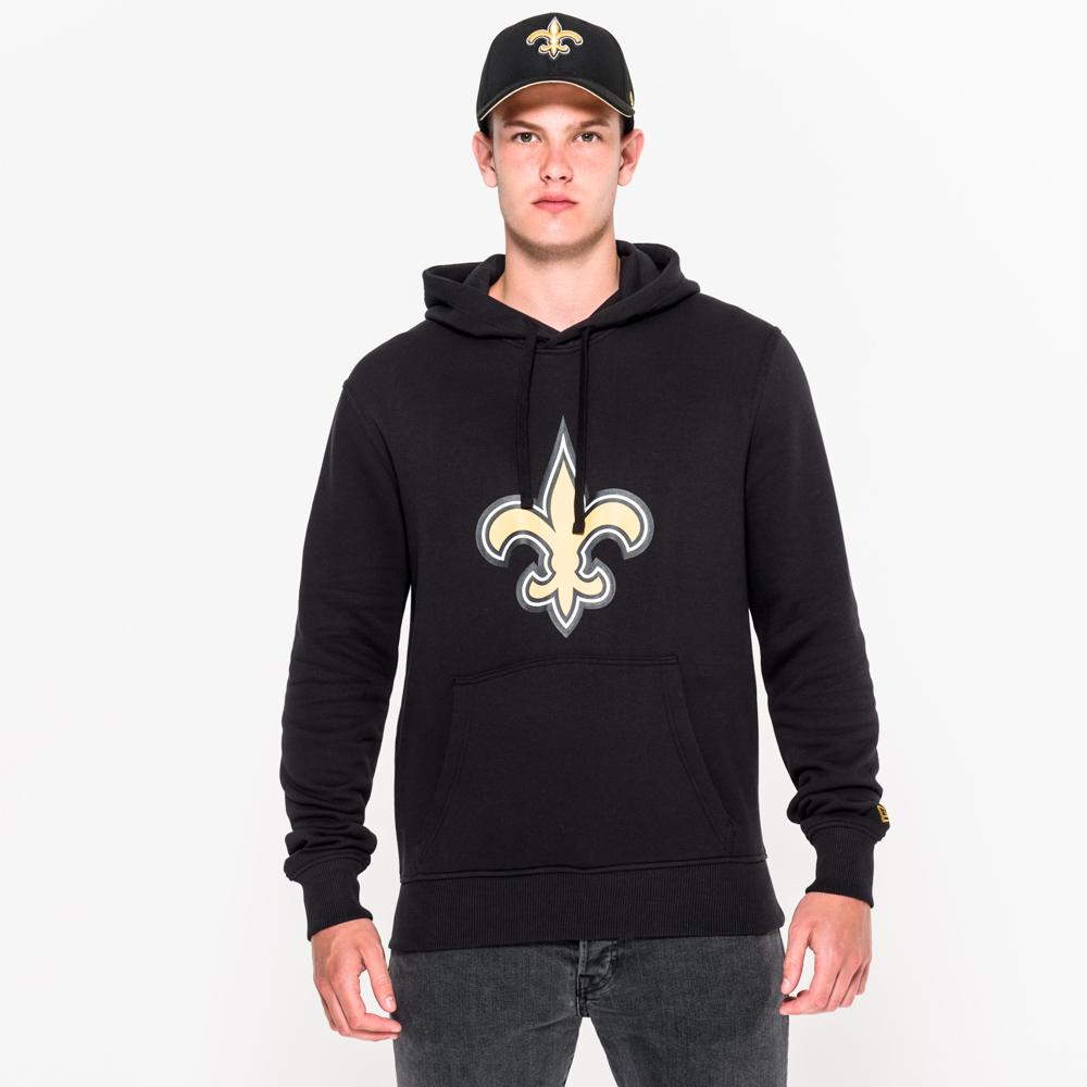 New Orleans Saints Team Logo Black Pullover Hoodie