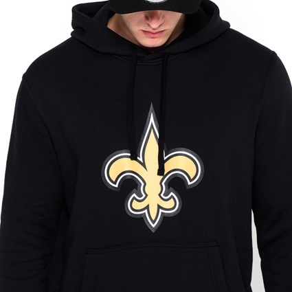 purchase cheap 47bef 07348 New Orleans Saints Team Logo Black Pullover Hoodie | New Era