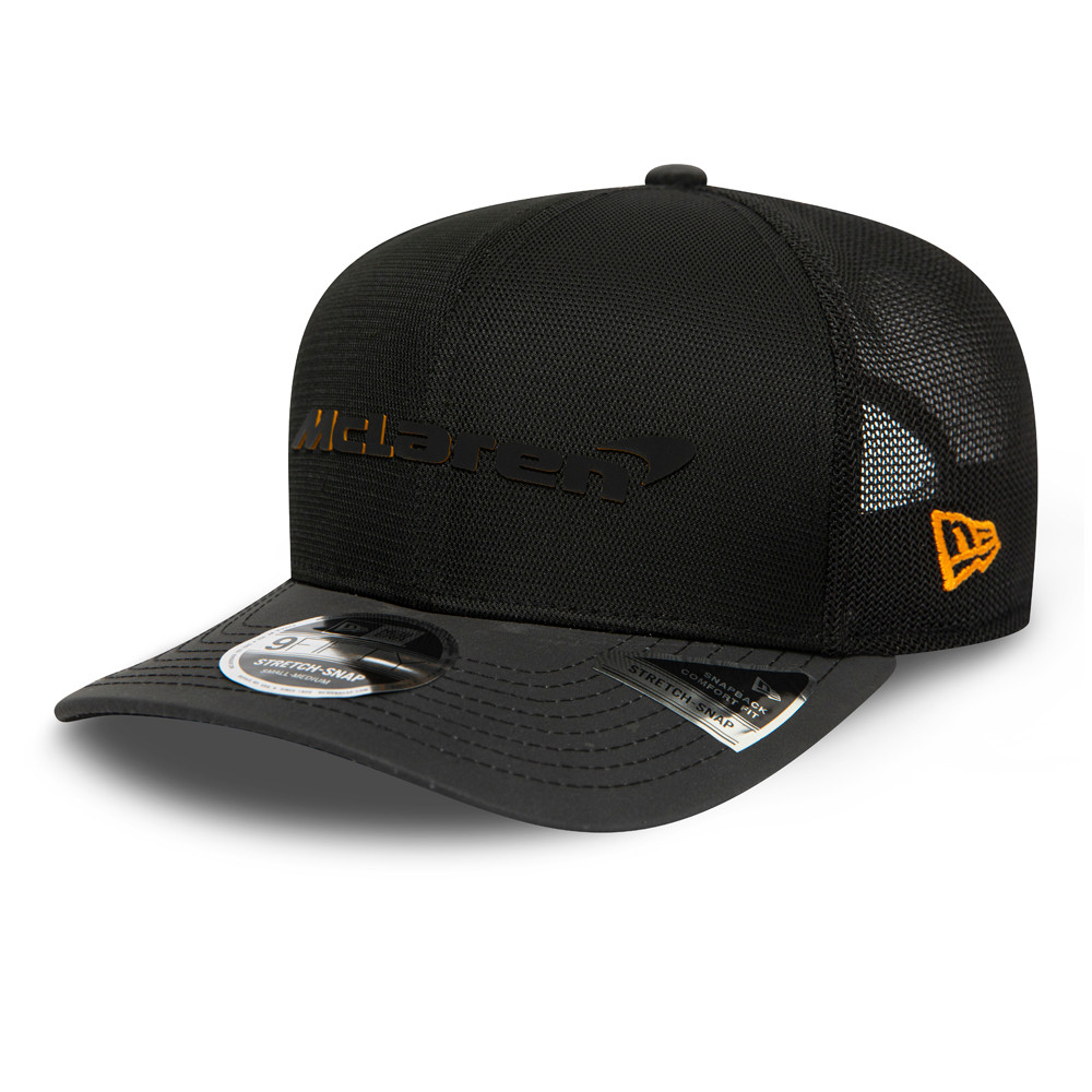 9FIFTY – McLaren – Singapore – Stretch-Kappe in Schwarz mit Clipverschluss