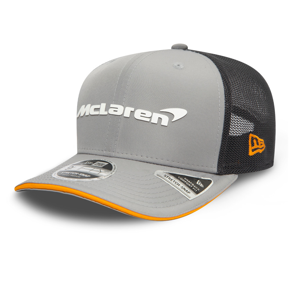 9FIFTY – McLaren – Abu Dhabi – Stretch-Kappe in Grau mit Clipverschluss