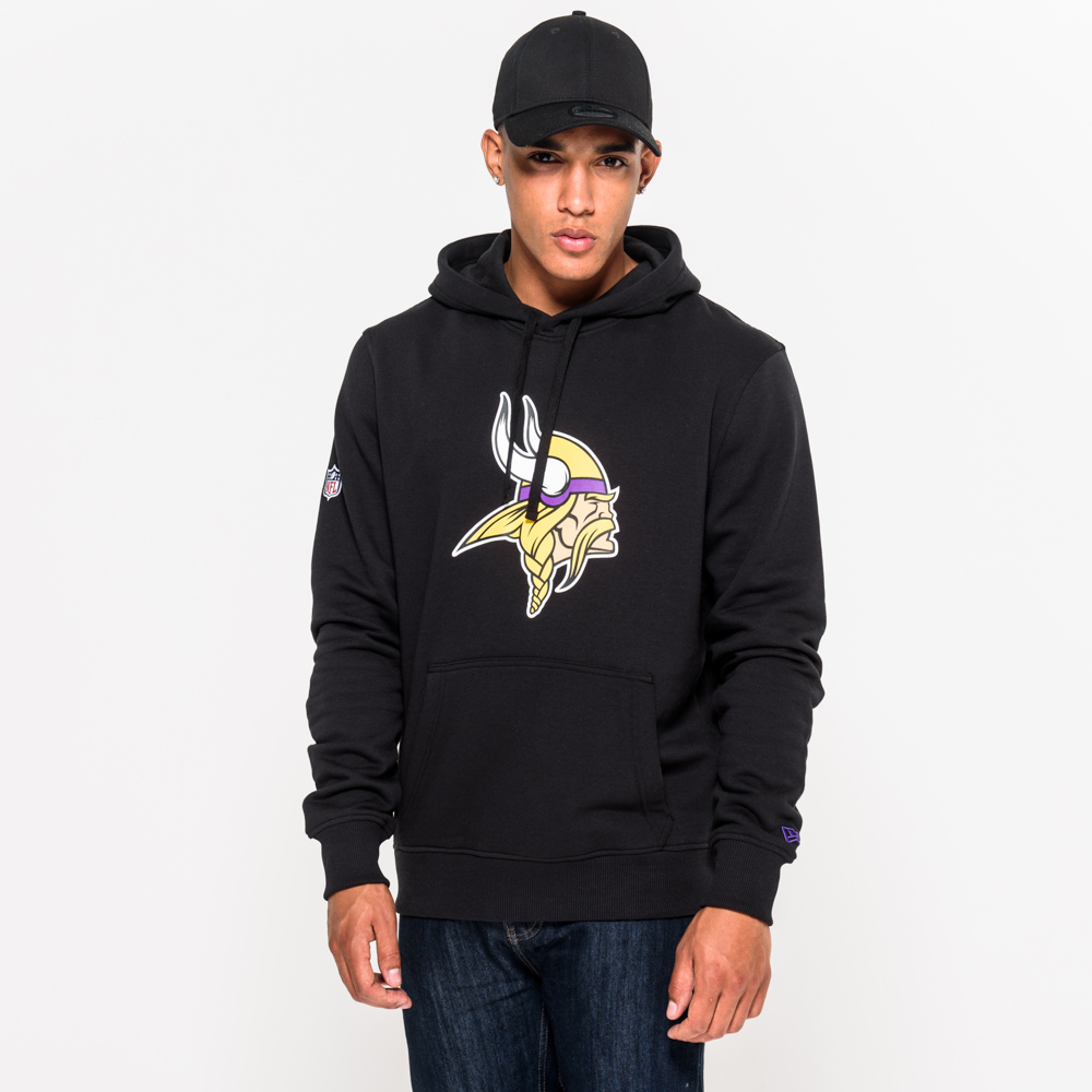 Minnesota Vikings Team Logo Black Pullover Hoodie