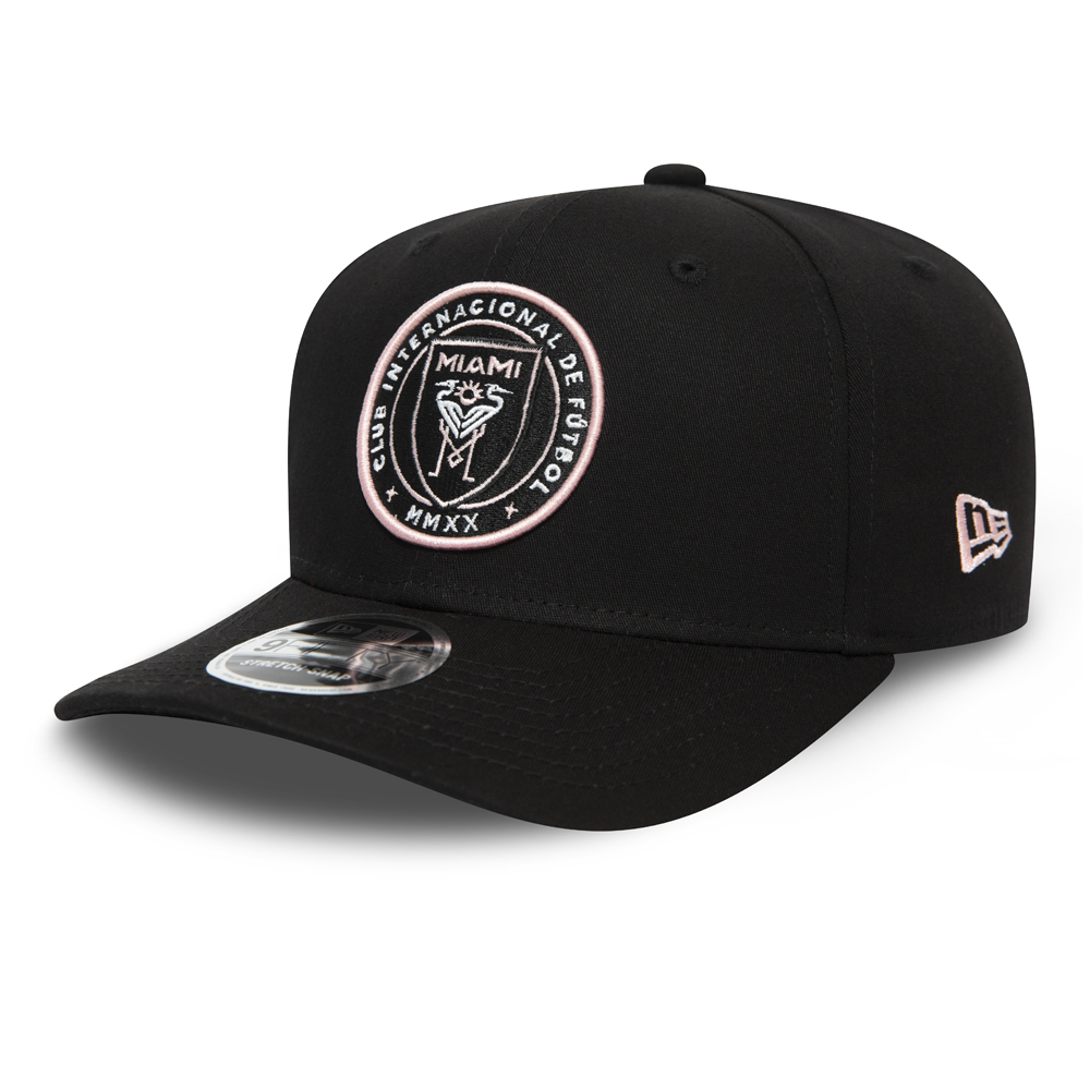 Inter Miami Black Stretch Snap 9FIFTY Cap