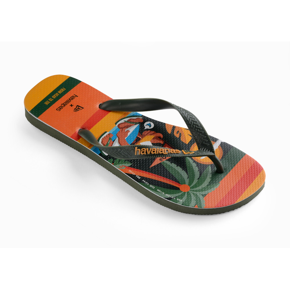 Tongs New Era X Havaianas oranges