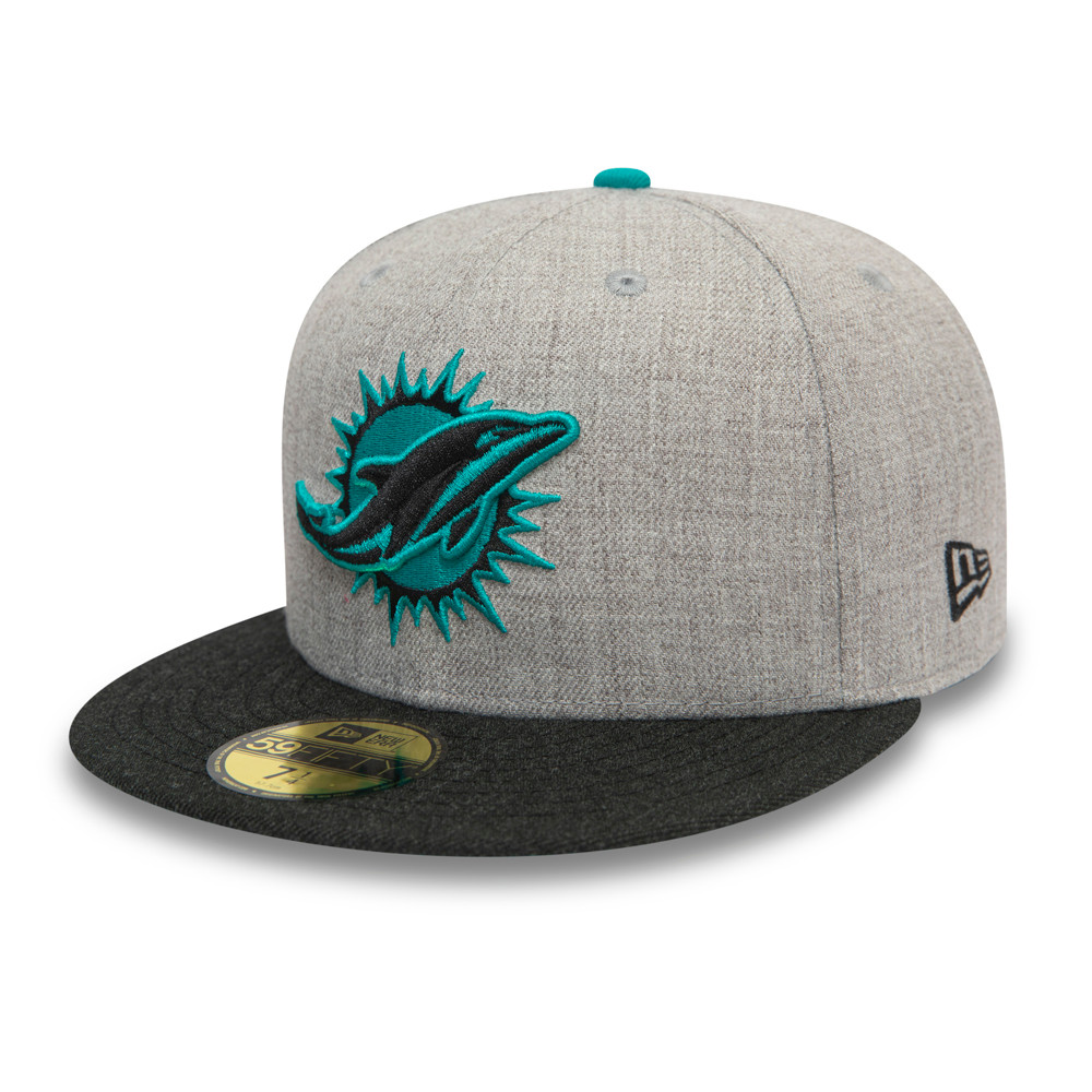 Miami Dolphins Grey 59FIFTY Cap