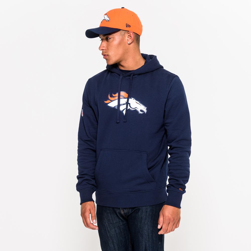 Denver Broncos Team – Marineblauer Hoodie mit Logo
