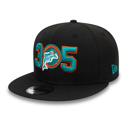Miami Dolphins Black 9FIFTY Cap