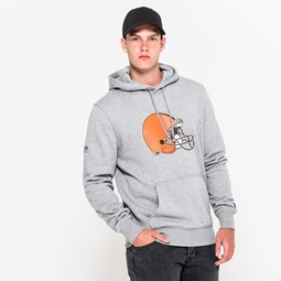 Cleveland Browns Team Logo Grey Pullover Hoodie